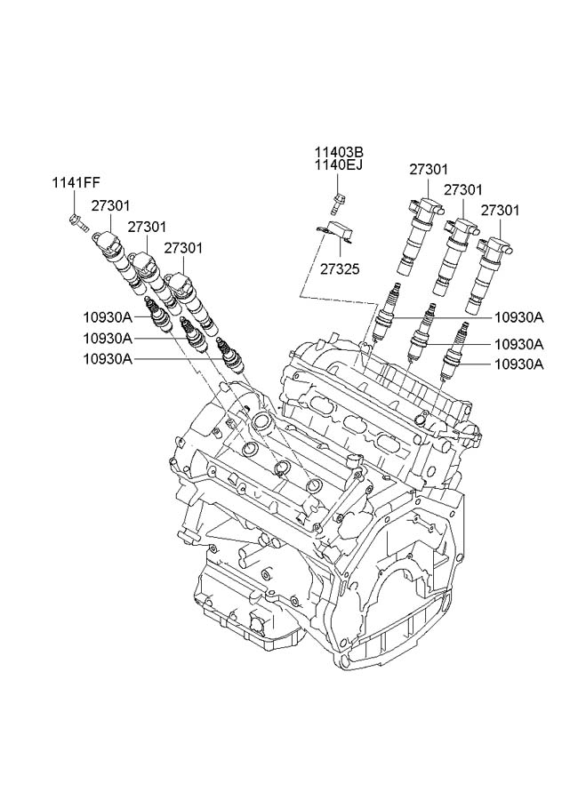 273013c000 - hyundai coil assembly