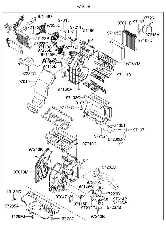 971332b010 Hyundai Filter Assembly Air Filters