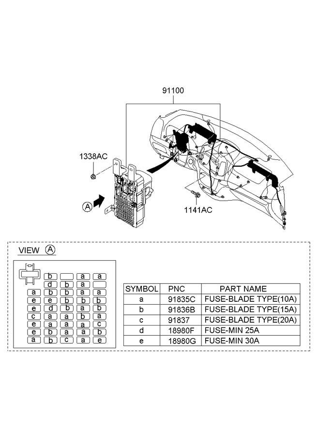 911570w290 - hyundai wiring assembly