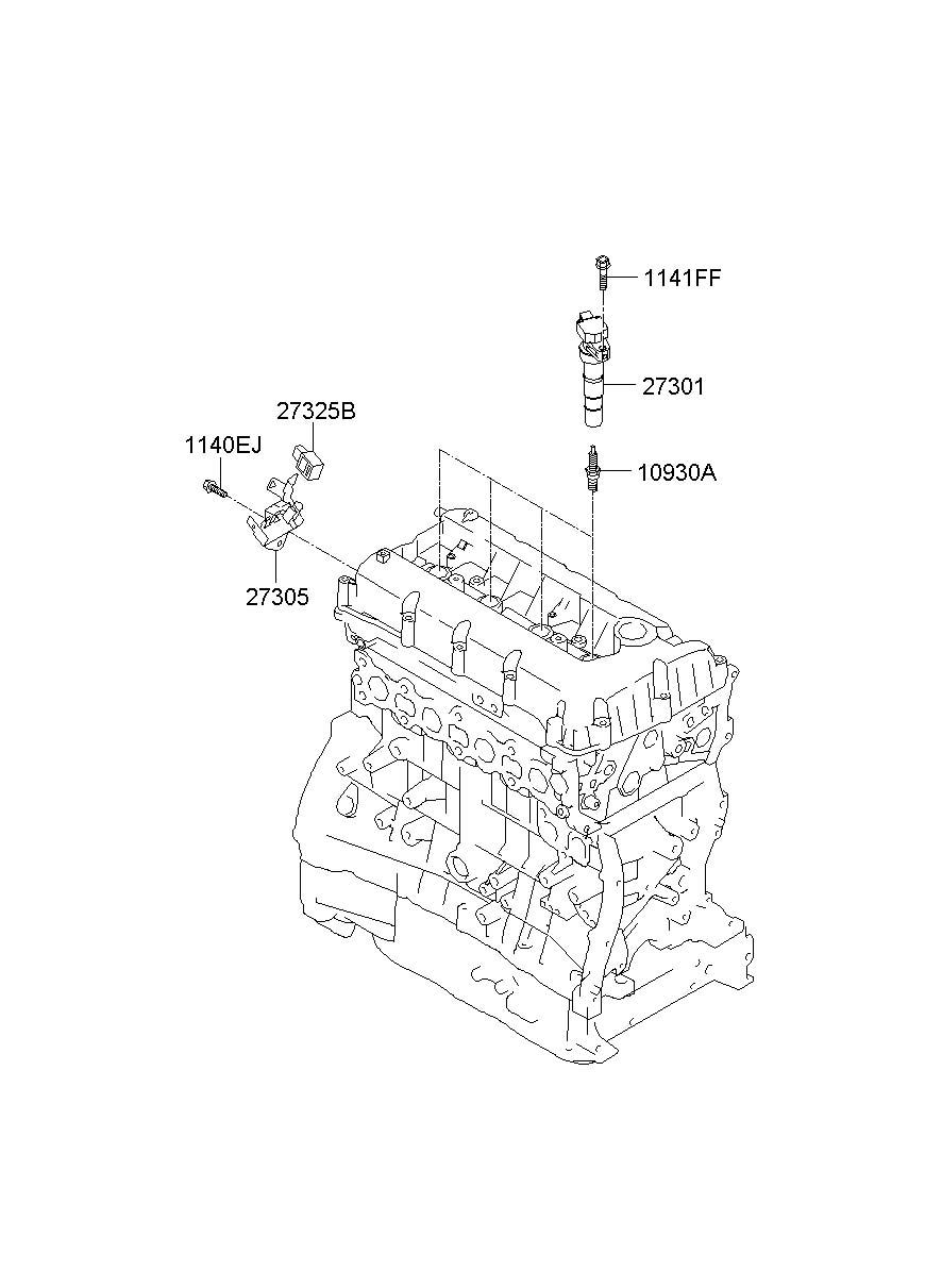2010 Hyundai Santa Fe Plug Assembly