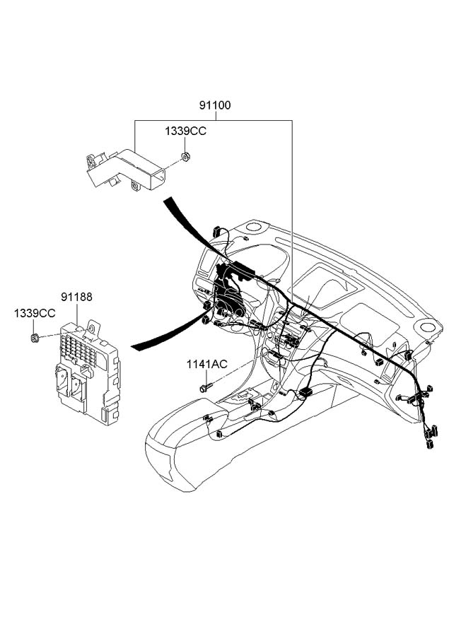 hyundai sonata relay assembly - power  relaymodule  deicer