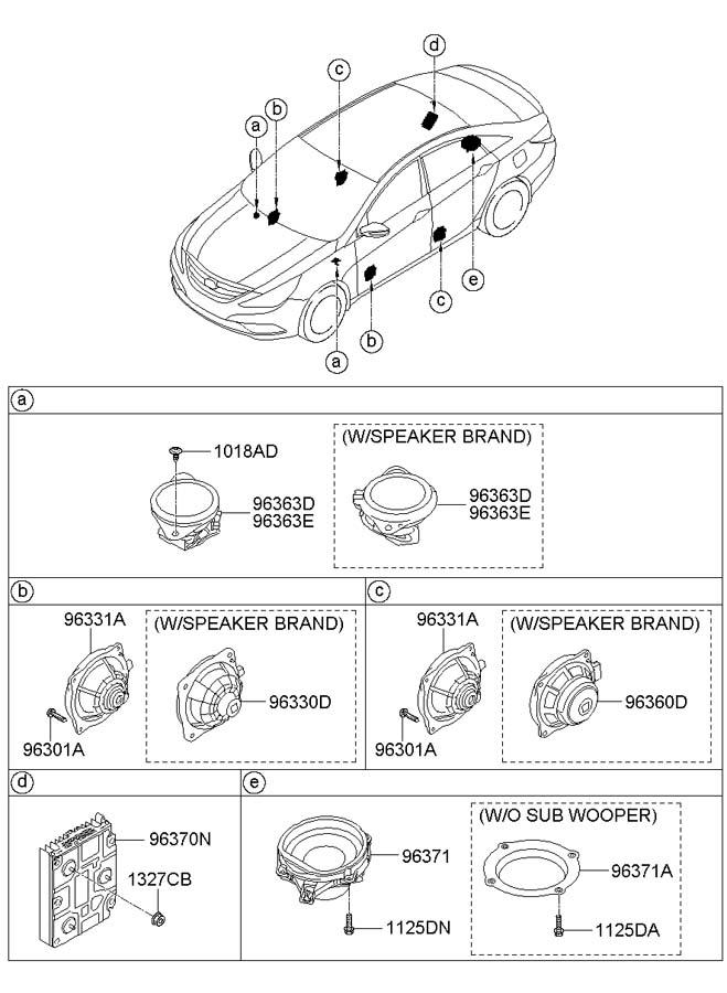 963803s200 - Hyundai Speaker Assembly  Premium Audio