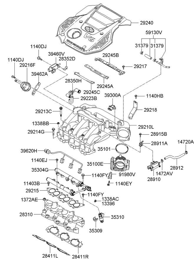 394613c100 - Hyundai Valve