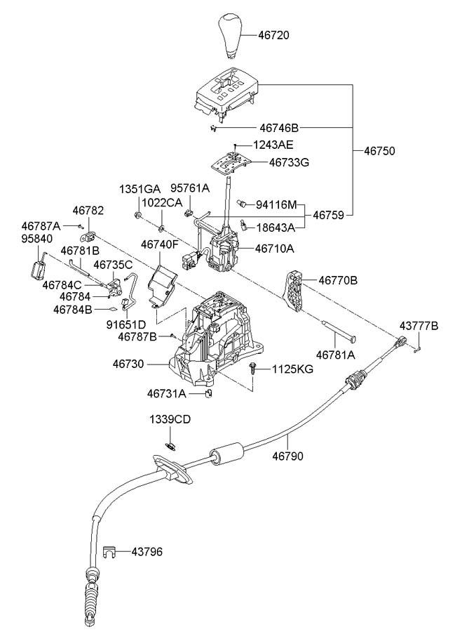 2008 Hyundai Solenoid Assembly Automatic Transmission