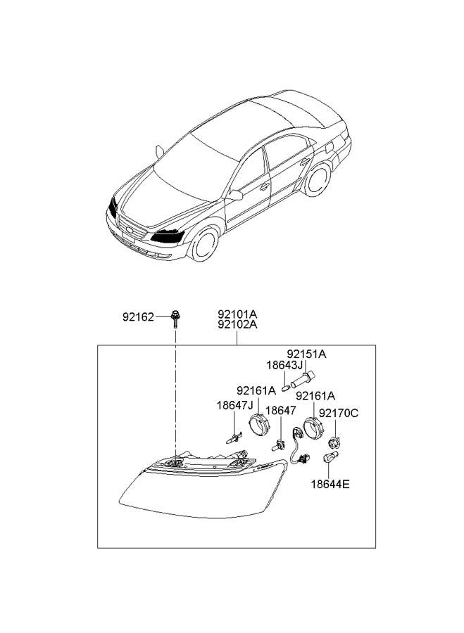 2008 Hyundai Sonata Bolt Assembly