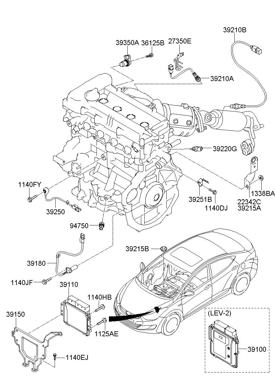 2011 Hyundai Elantra Sensor  Crankshaft  Position  Engine