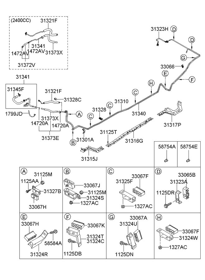 2006 Hyundai Sonata Hose Assembly