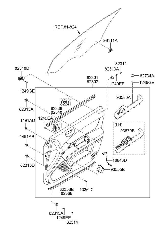 2006 Hyundai Sonata Switch Assembly