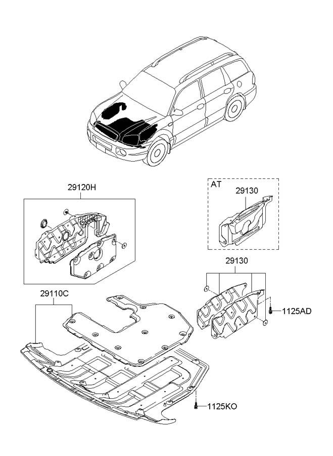 291102b101 - Hyundai Panel Assembly