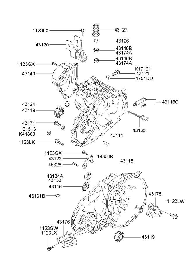 Hyundai Accent Seal - Oil  Casemanual