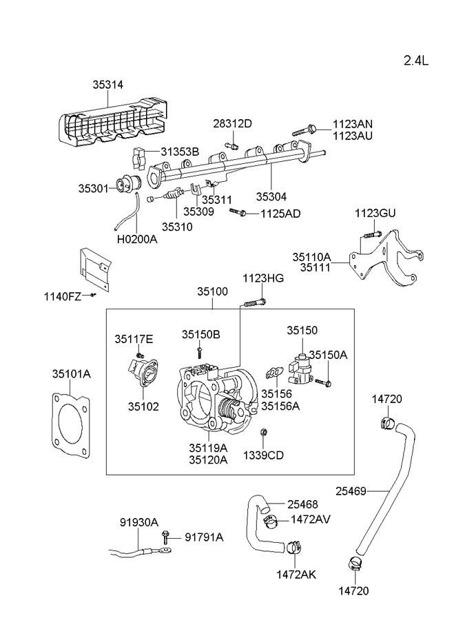 hyundai santa fe sensor assembly throttle position