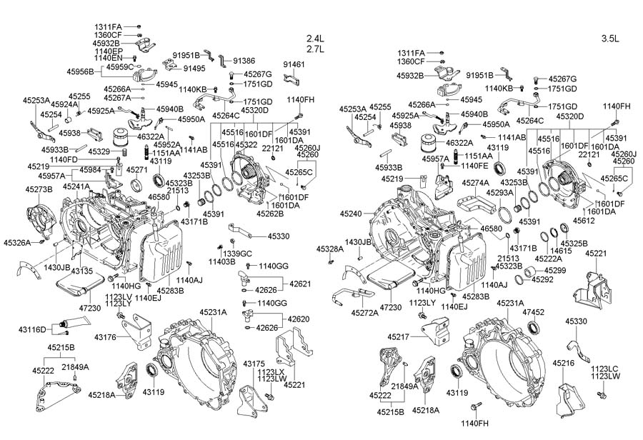 Hyundai Santa Fe Radiator Diagram on honda cr v automatic transmission diagram