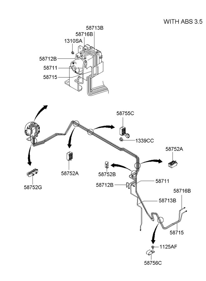 hyundai santa fe abs parts diagram  hyundai  auto wiring
