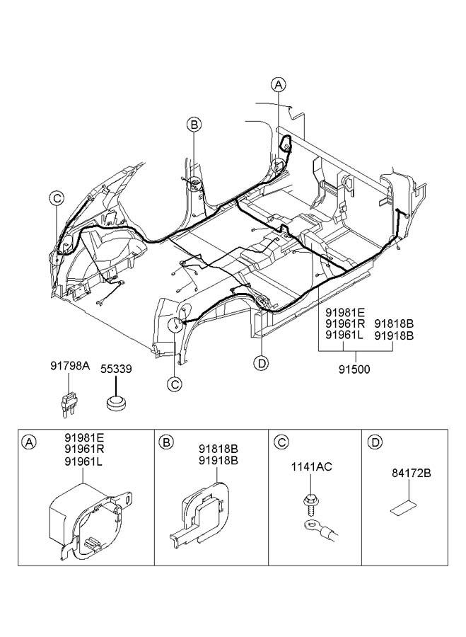 hyundai wiring harness floor