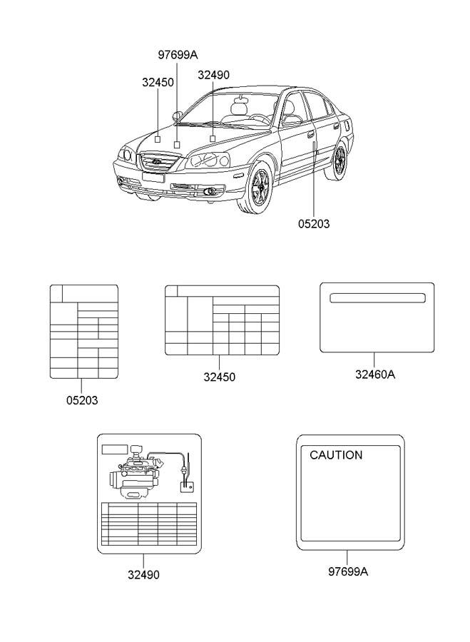 3249023510 - Hyundai Label