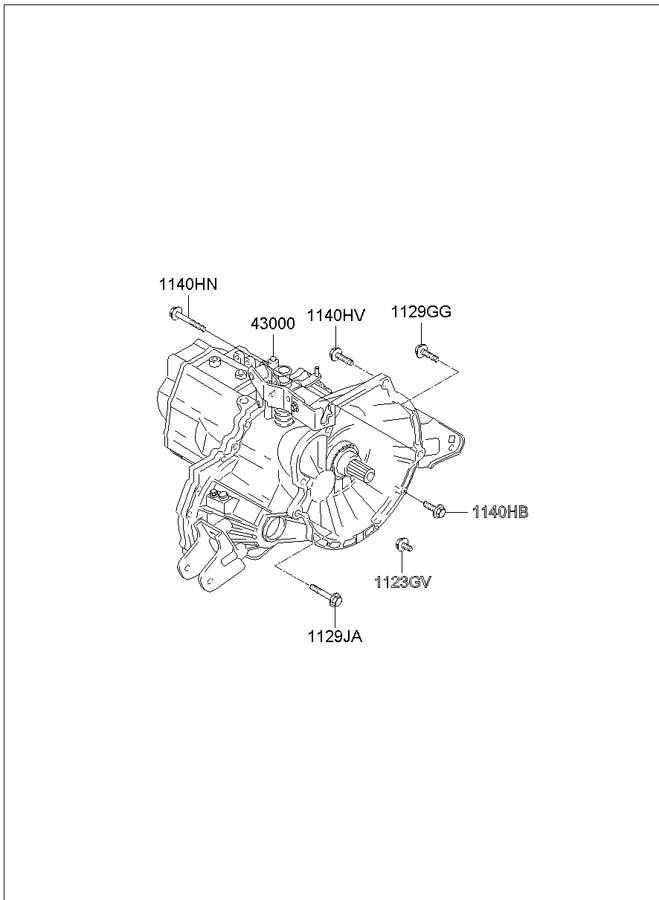 2004 Hyundai Elantra Transmission Assembly