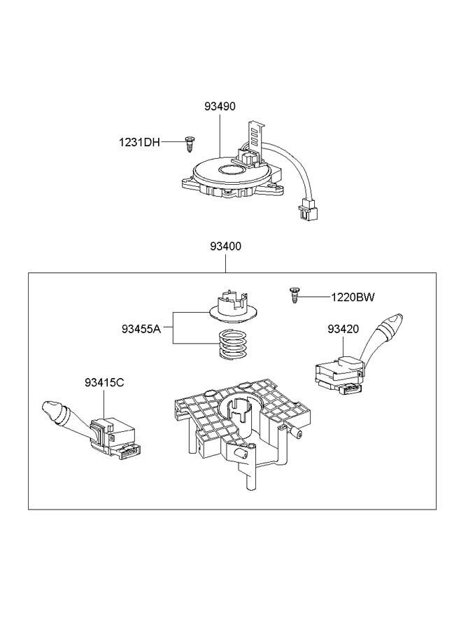 2003 Hyundai Elantra Contact Assembly