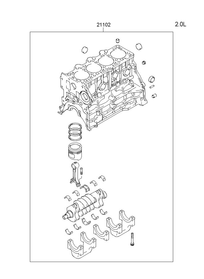 2006 Hyundai Tucson Engine Assembly
