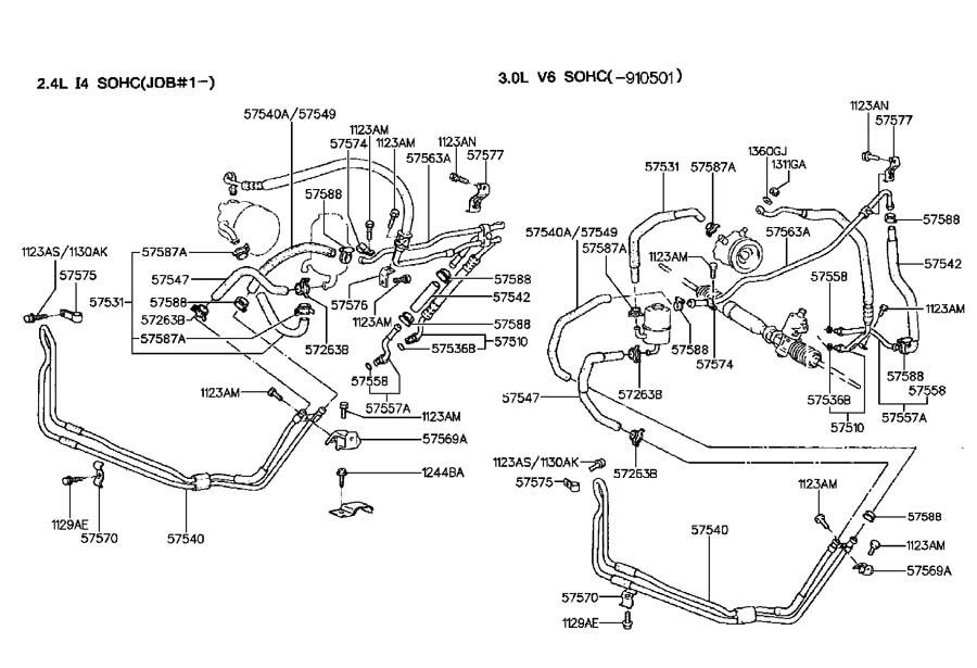 hyundai sonata power steering hose bracket