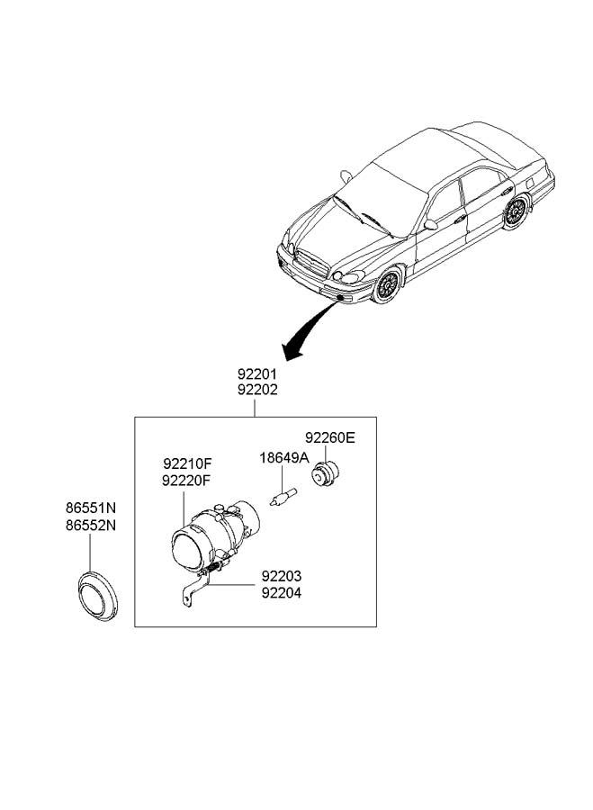 922603D000     Hyundai    Holder  bulb Smarker  reflex