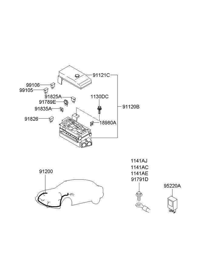 hyundai xg300  350 box assembly - junction