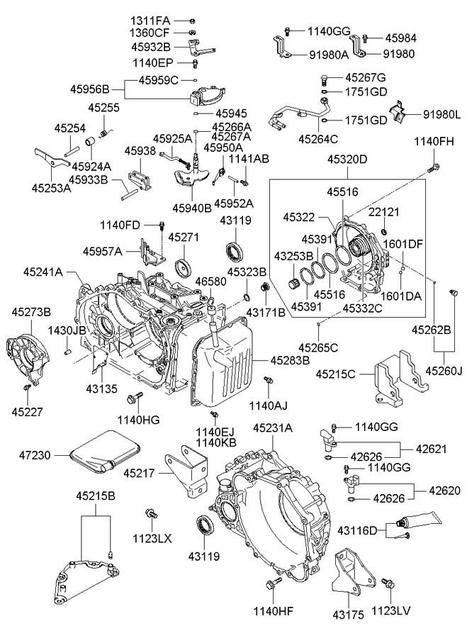 2006 Hyundai Sonata Bracket - Shift Cable