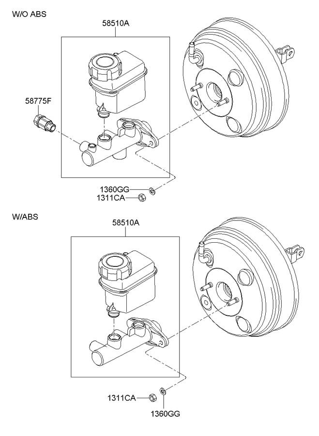 585103k300 - hyundai cylinder assembly