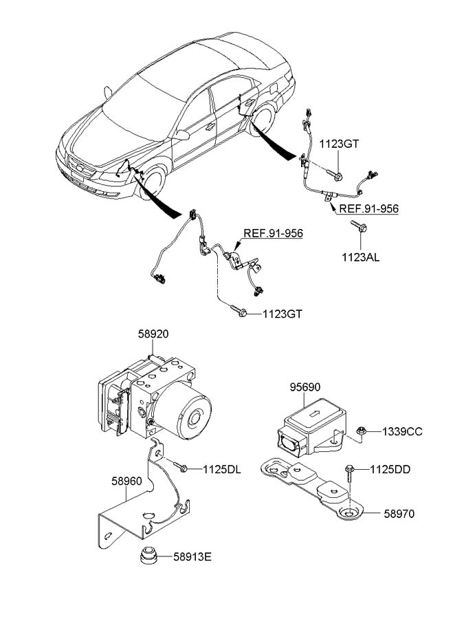 956903k000 - hyundai sensor assembly