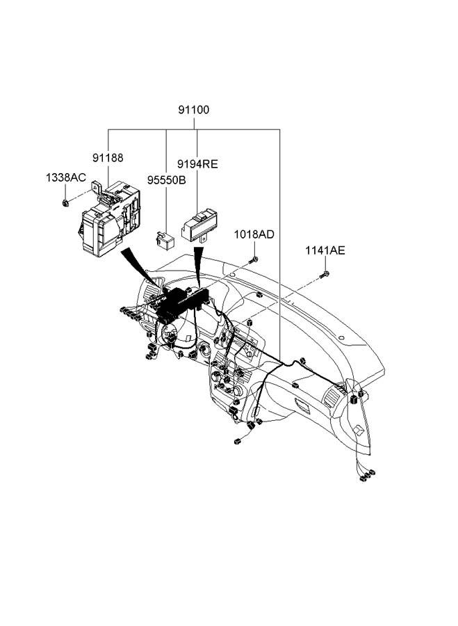 955503k100 - Hyundai Flasher Module