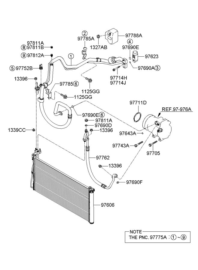 2017 Hyundai Santa Fe Nut - Washer Assembly  Cbar