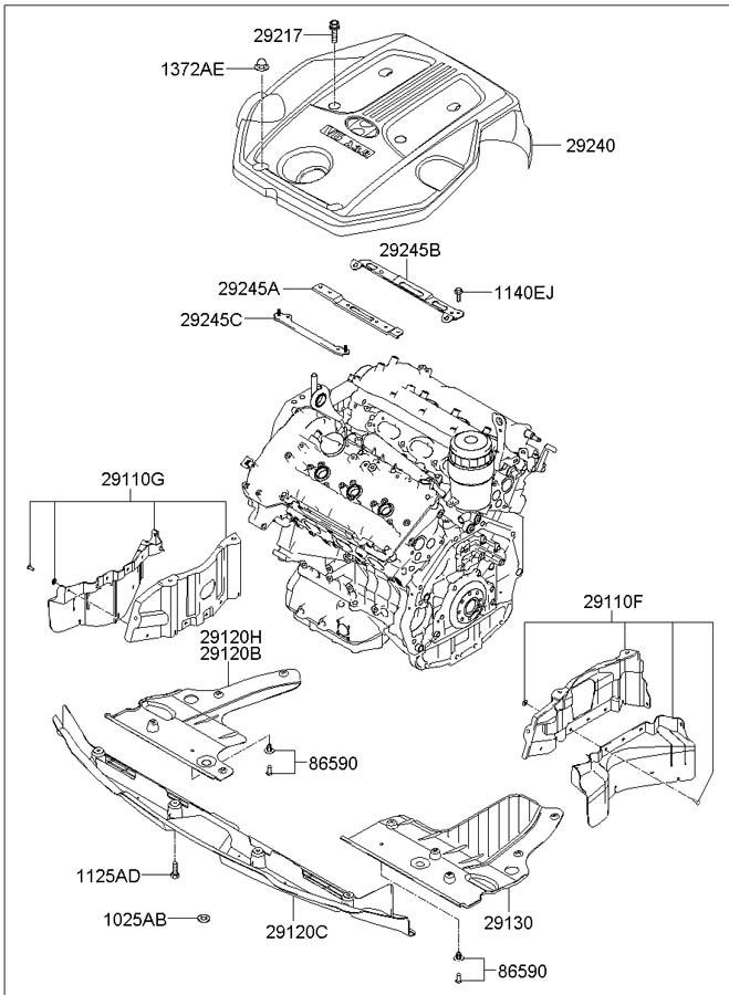 2007 hyundai azera bracket c engine cover cengine. Black Bedroom Furniture Sets. Home Design Ideas