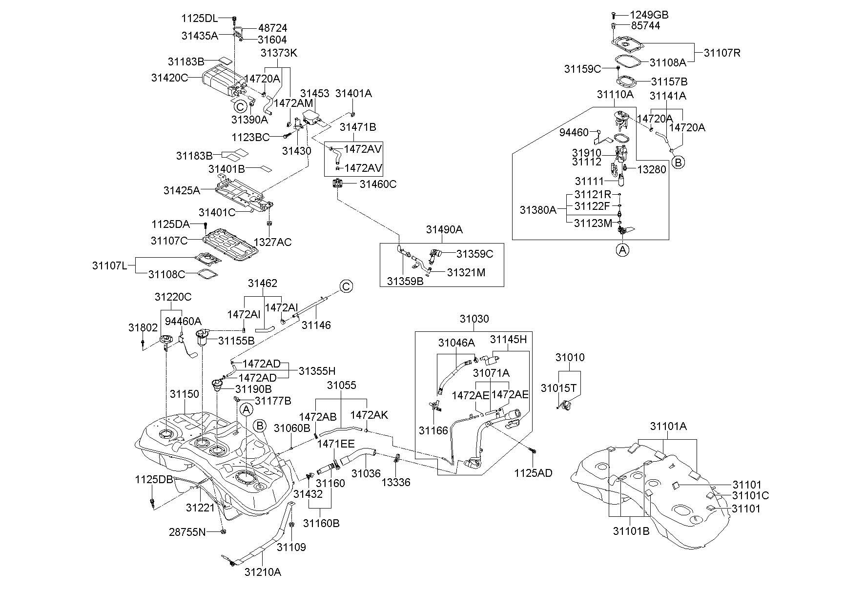 2011 Hyundai Genesis Filter  Air  Secondary  Vapor  Pump