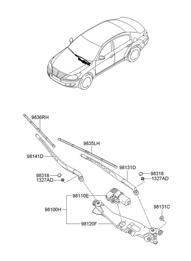 981003m000 - Hyundai Motor  U0026 Link Assembly