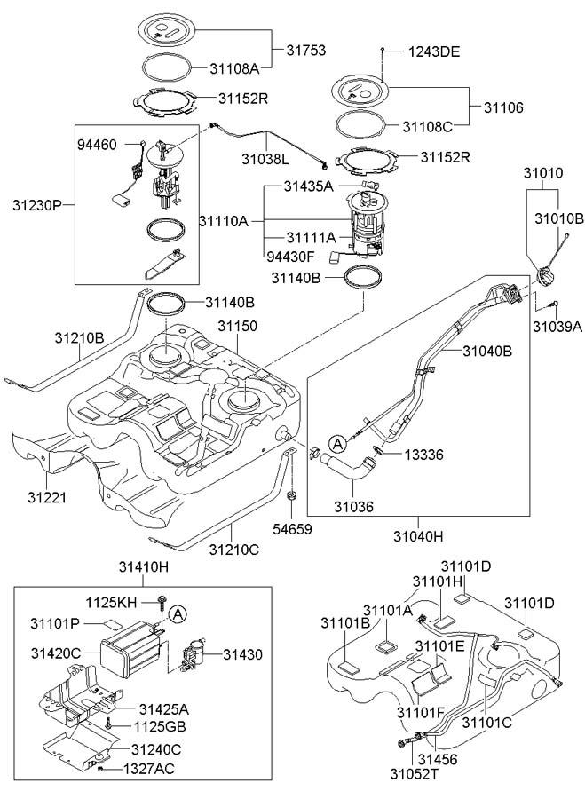 2007 Hyundai Santa Fe Complete - Fuel Pump