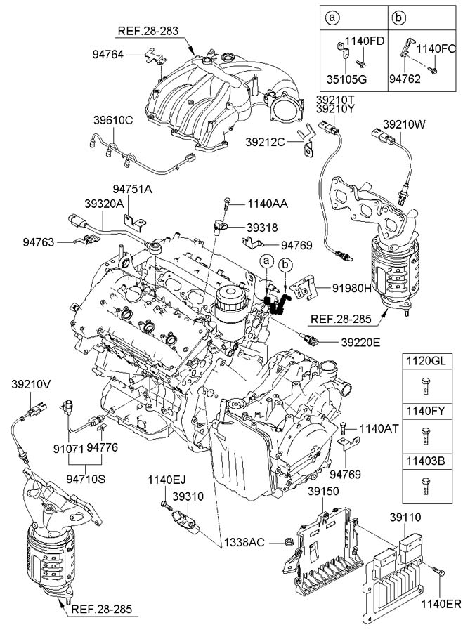 392103c600 - Hyundai Sensor Assembly