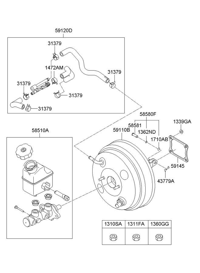 591203j000 - hyundai hose assembly