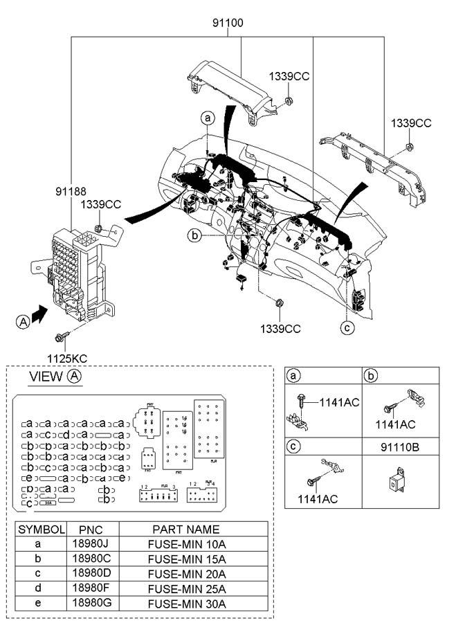 2011 Hyundai Veracruz Wiring Assembly - Main  Projection  Openg  Blankg