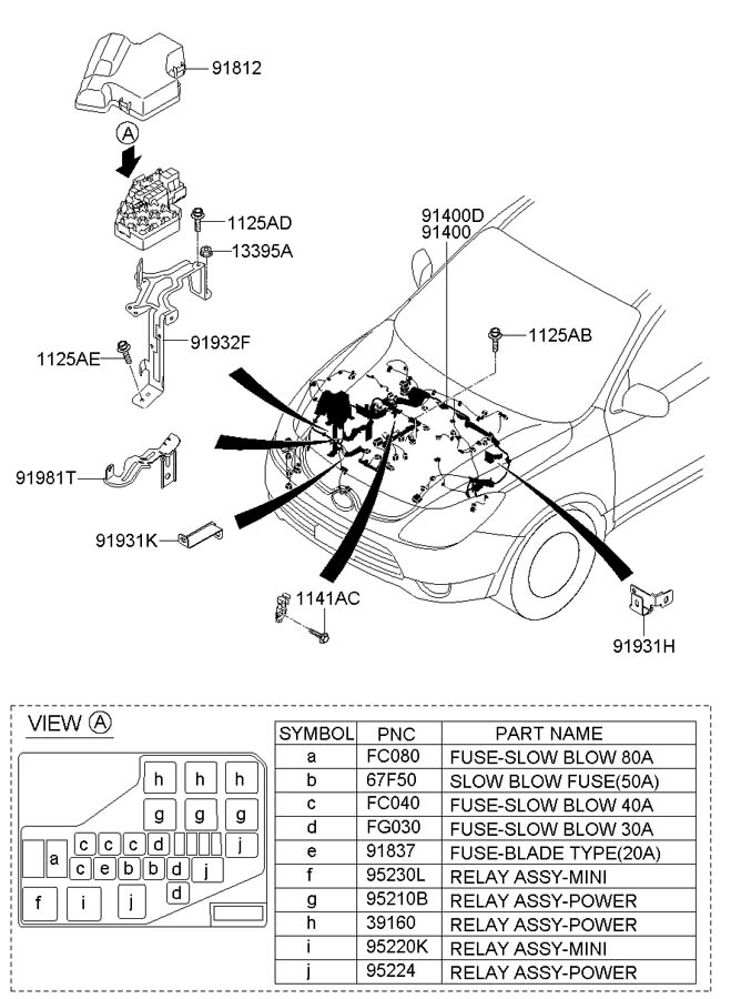 914073j145 - hyundai wiring assembly