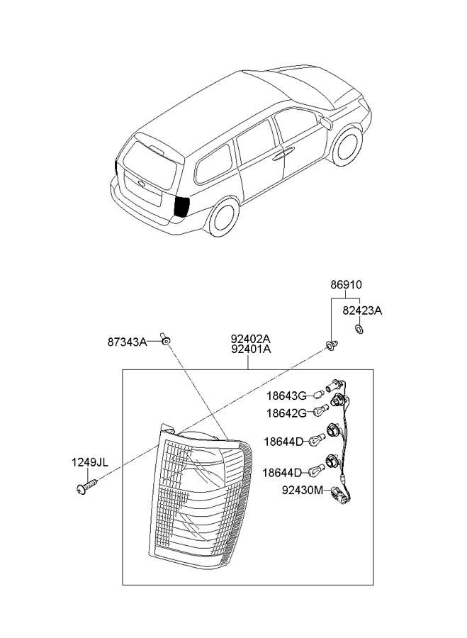 hyundai entourage holder wiring assembly 924154j000. Black Bedroom Furniture Sets. Home Design Ideas