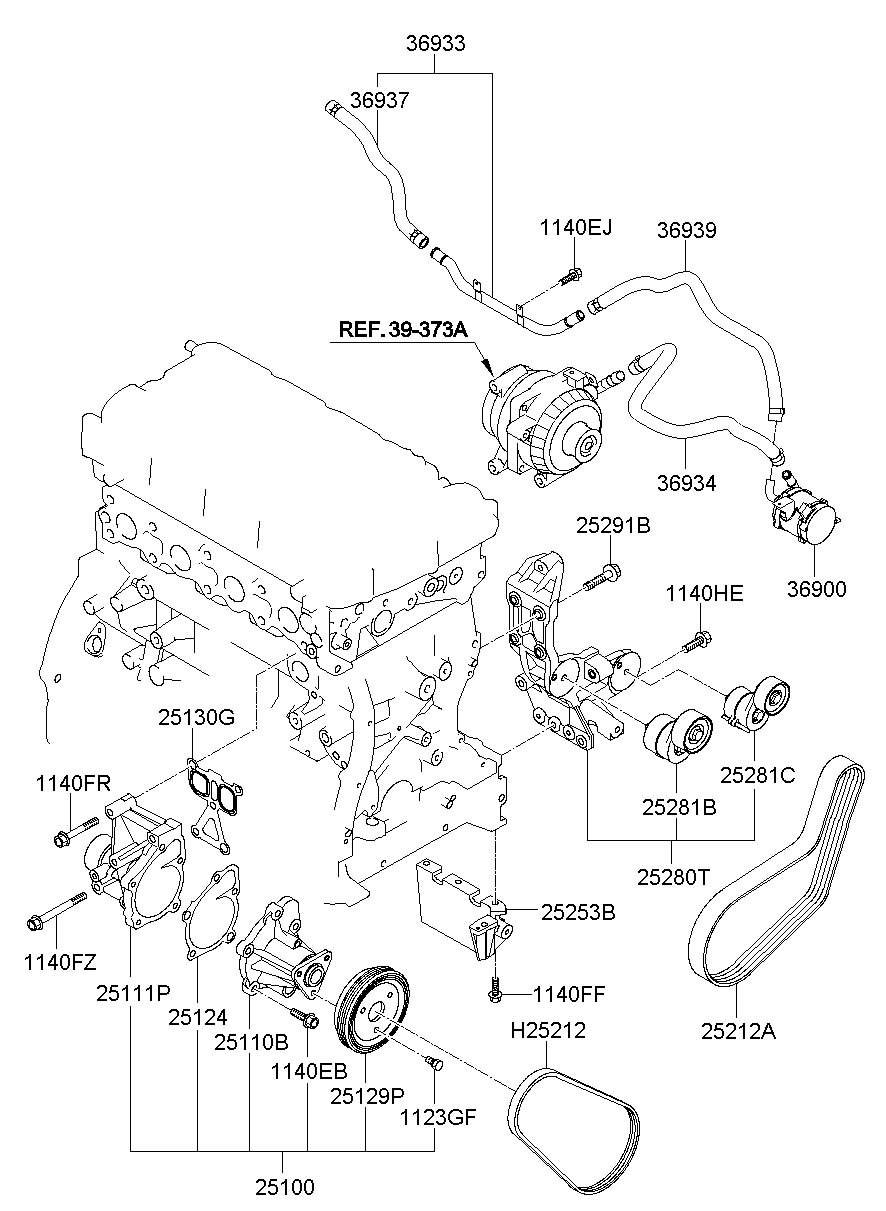 2012 Hyundai Sonata Hybrid >> Hyundai Sonata Auxiliary pump. Engine auxiliary water pump. Ewp assembly. Alternator ...