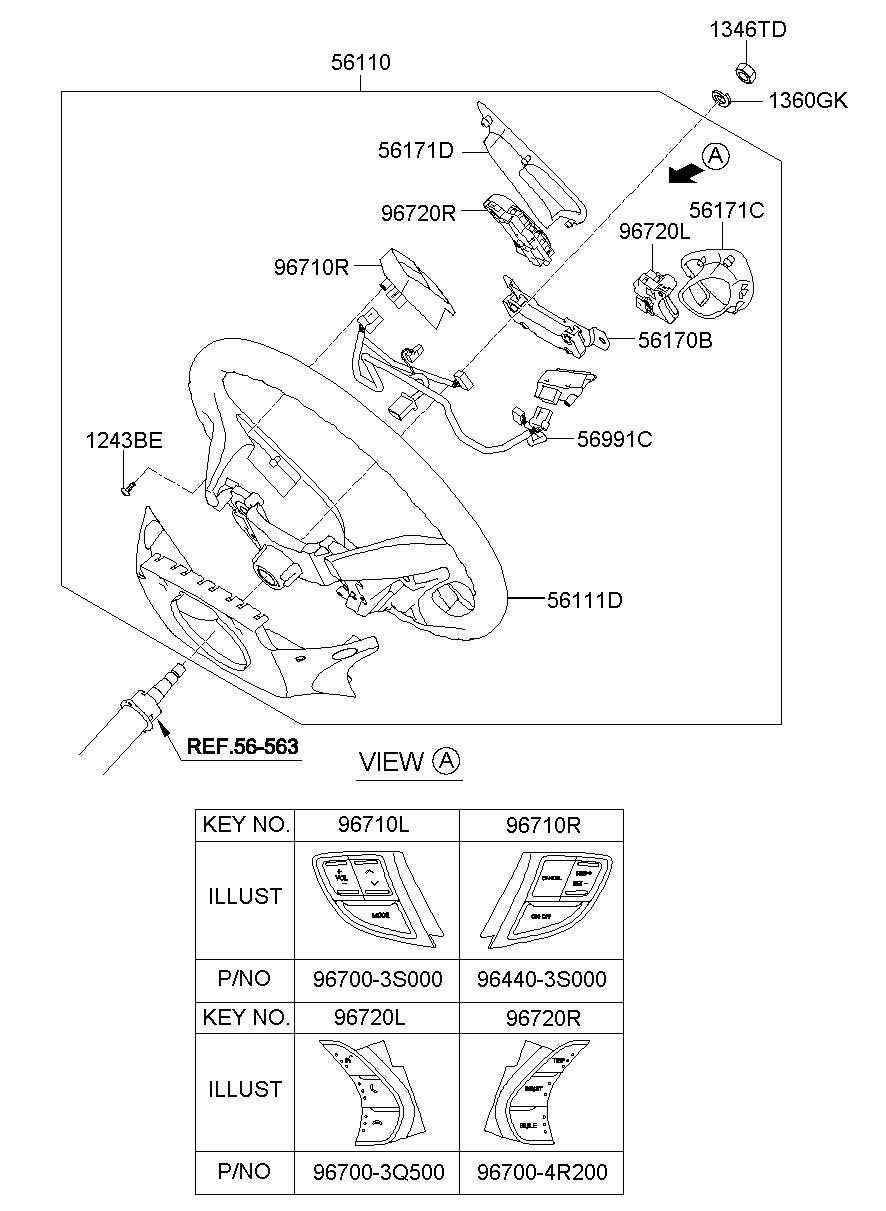 964403s000ry - Hyundai Cruise Control Switch  Cruise Switch  Switch Assembly