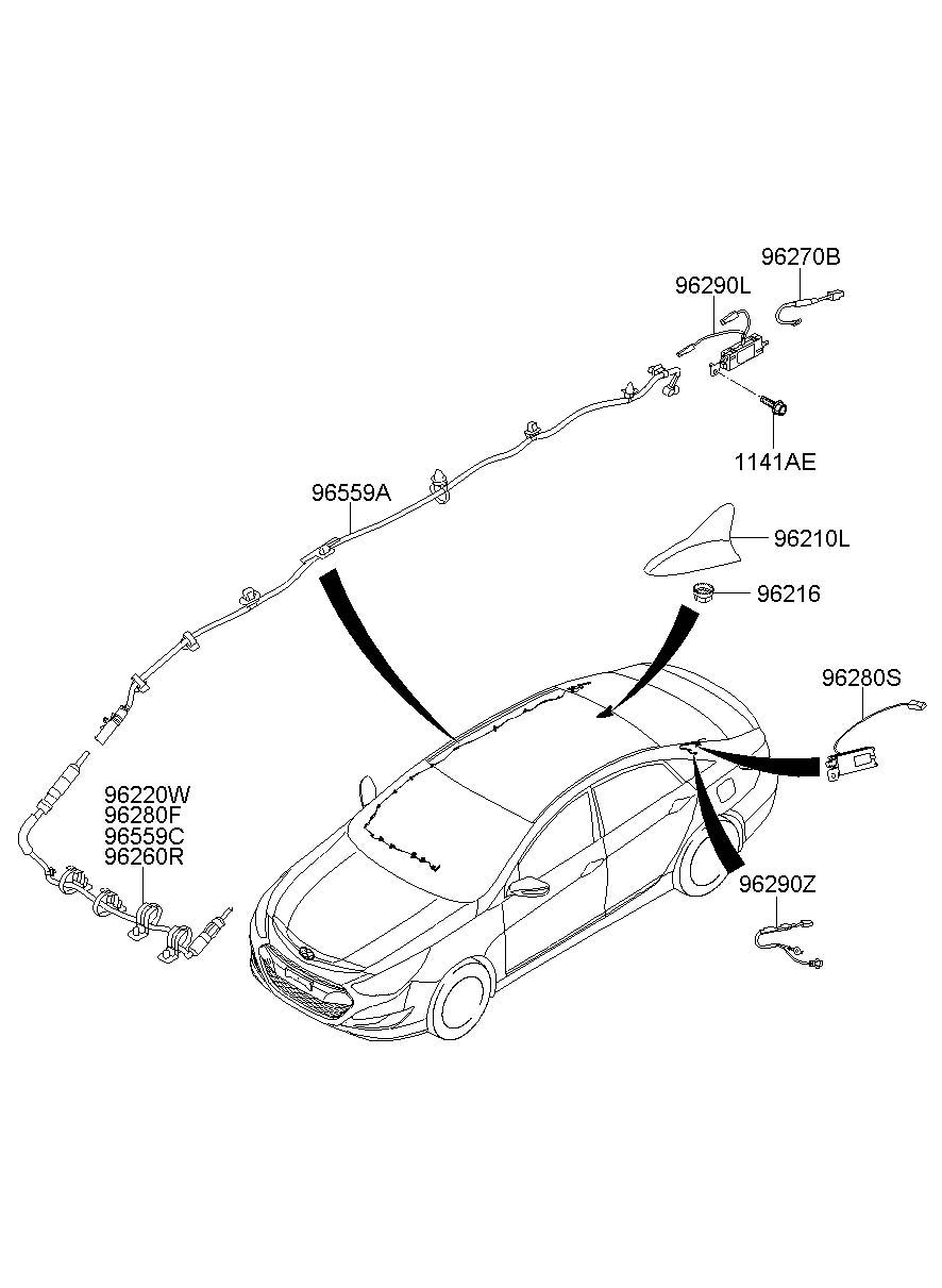 962103q900aa - Hyundai Antenna Assembly