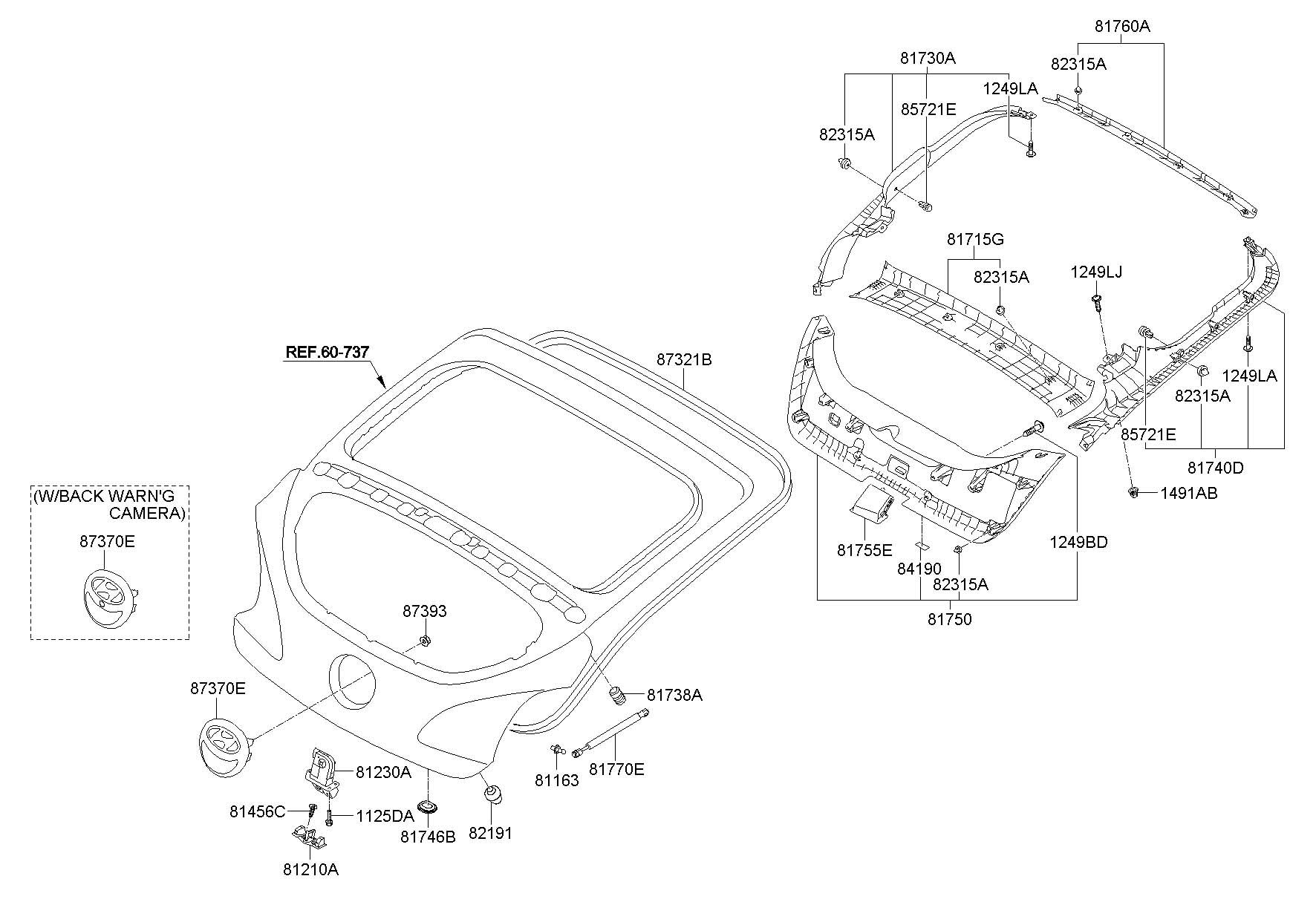 812302v000 - Hyundai Latch Assembly