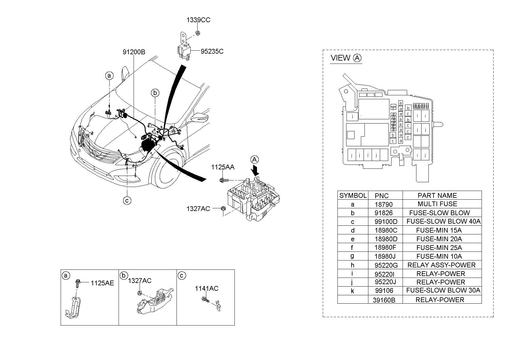 2013 hyundai elantra fuse box  relay box   u0026 wiring