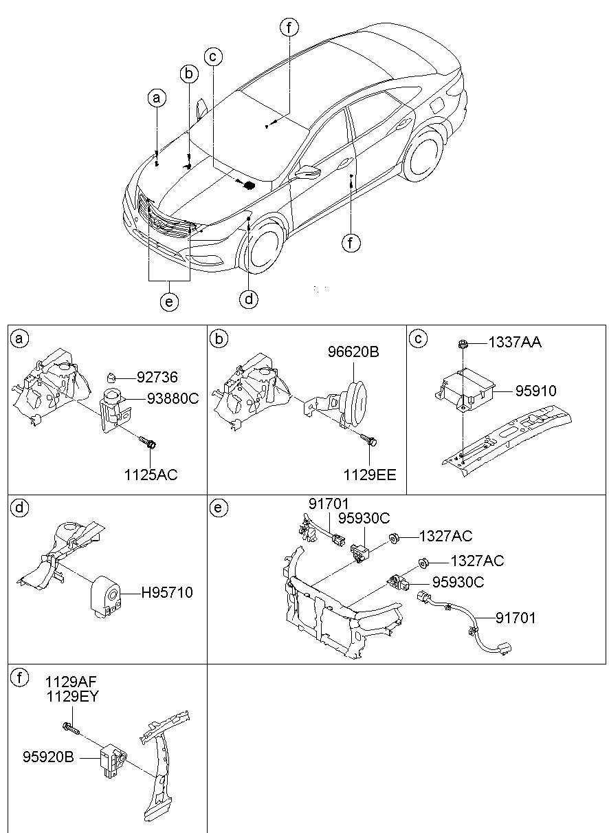 954003v320 - Hyundai Body Control Module  Fuse Box  Unit Assembly  1  13