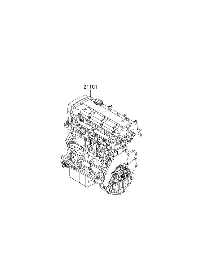 2006 Hyundai Tucson Engine Assembly - Sub