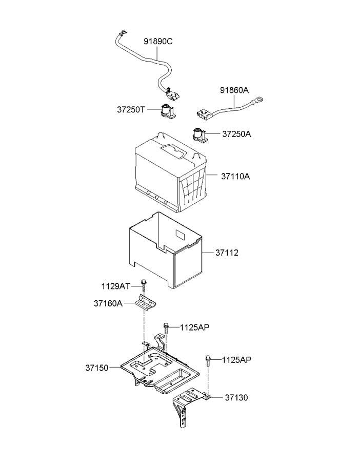 2007 hyundai tucson terminal battery 372602e100. Black Bedroom Furniture Sets. Home Design Ideas