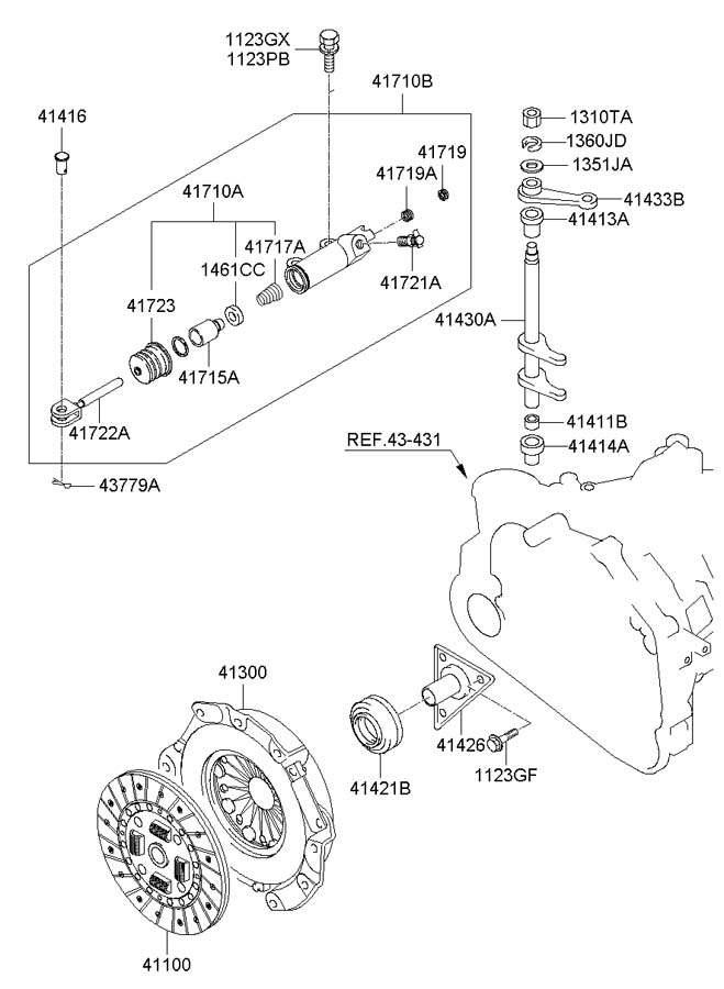 2005 hyundai tucson suspension diagram