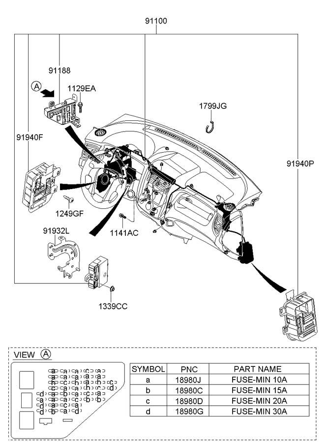 Hyundai Tucson Junction Box Assembly  Pnl  Ipnl