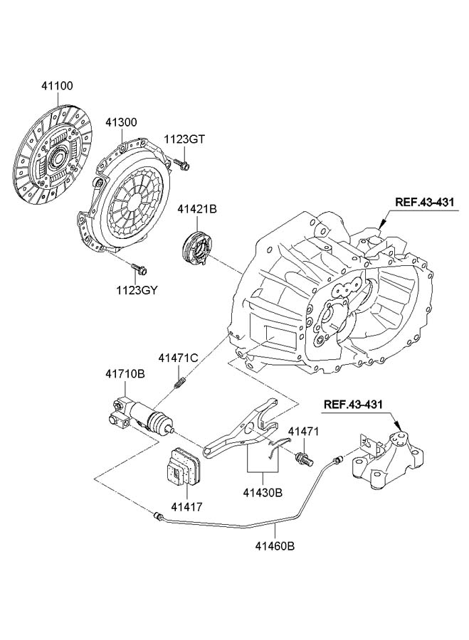 4143023000 - Hyundai Fork Assembly